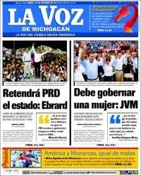 Portada de La Voz de Michoacán (Mexico)
