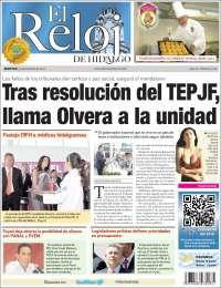 Portada de Diario el Reloj (México)