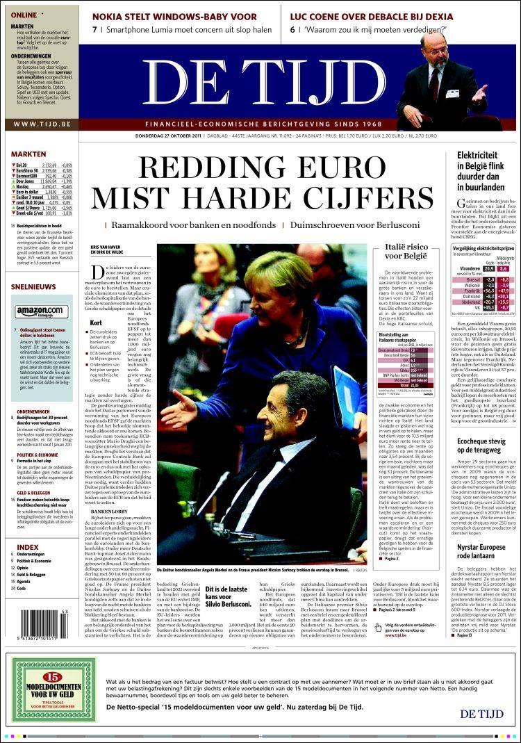 Newspaper De Tijd (Belgium). Newspapers in Belgium ...