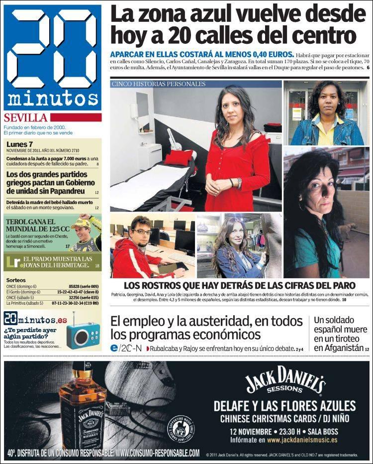 Periodico 20 Minutos Sevilla Espana Periodicos De Espana