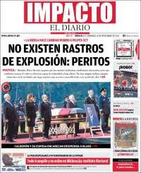 Portada de Impacto El Diario (Mexico)