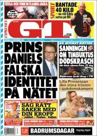 Portada de Göteborgstidningen (Suède)