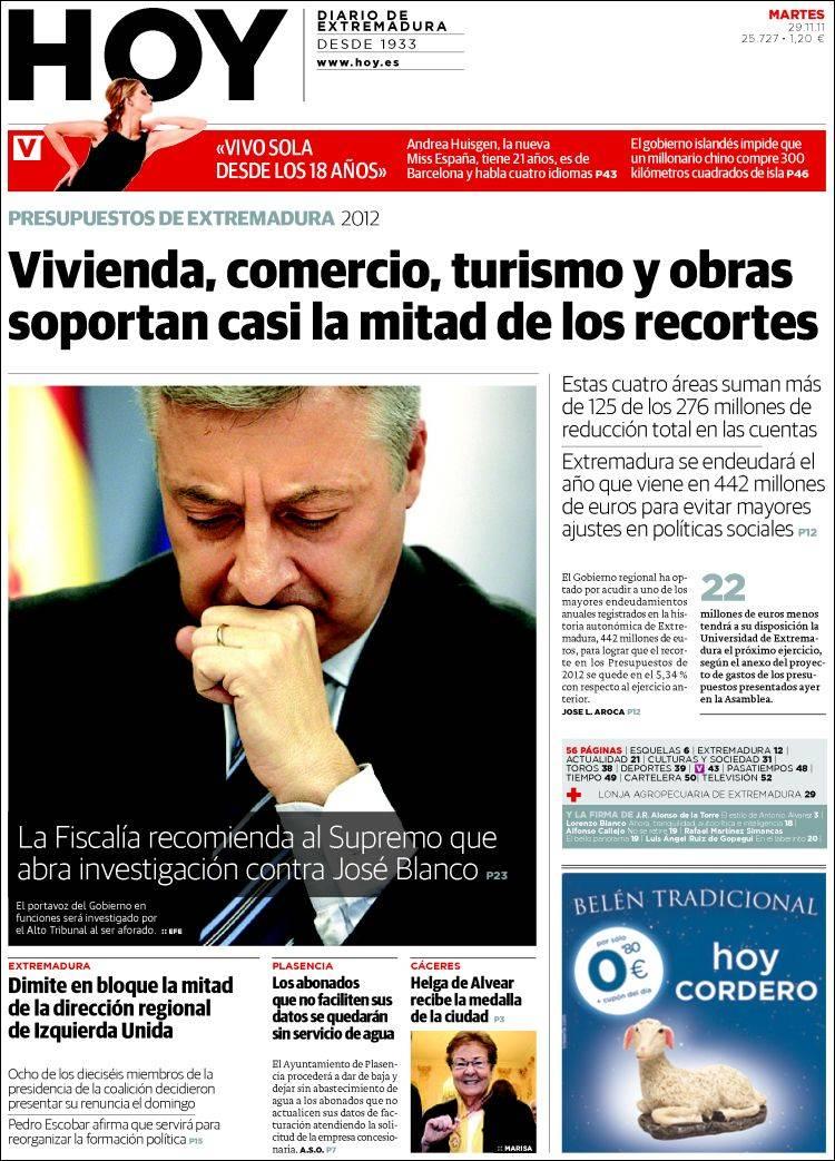 Periódico Hoy - Caceres (España). Periódicos de España
