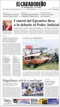 Portada de El Carabobeño (Venezuela)