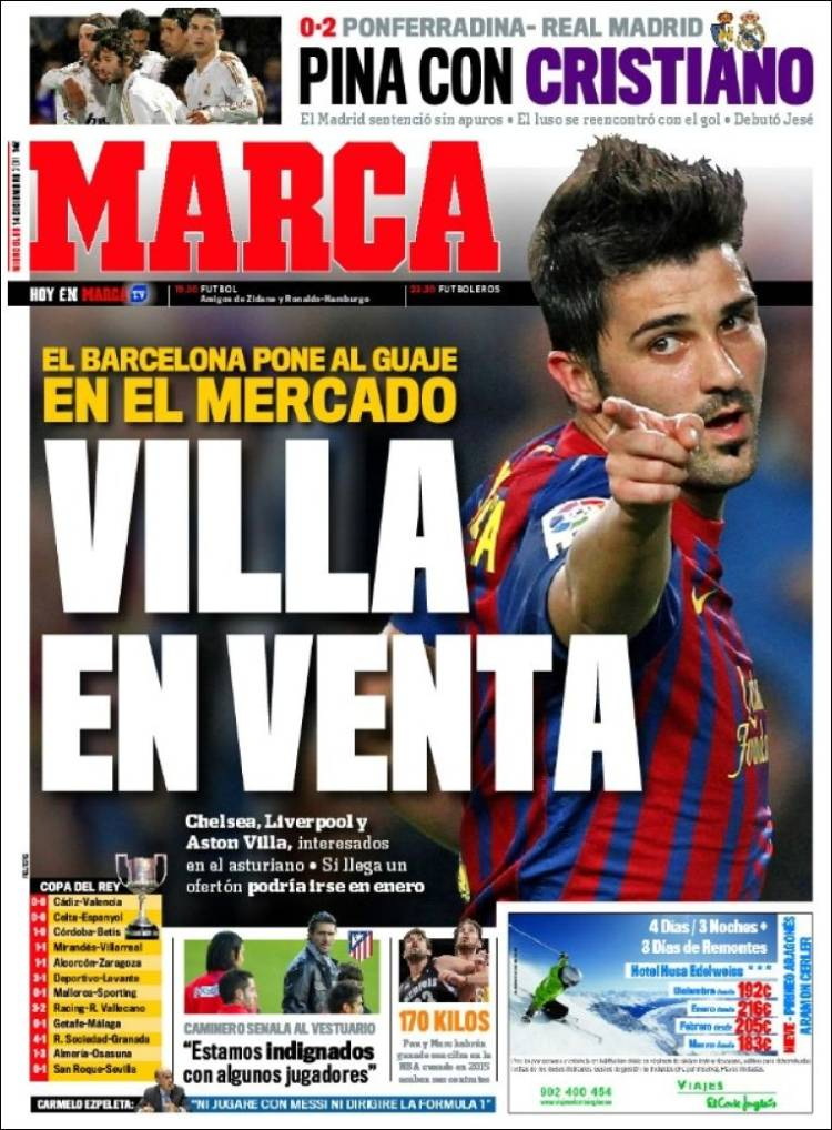 Higua n extremo y goleador ecos del bal n for El marca del madrid
