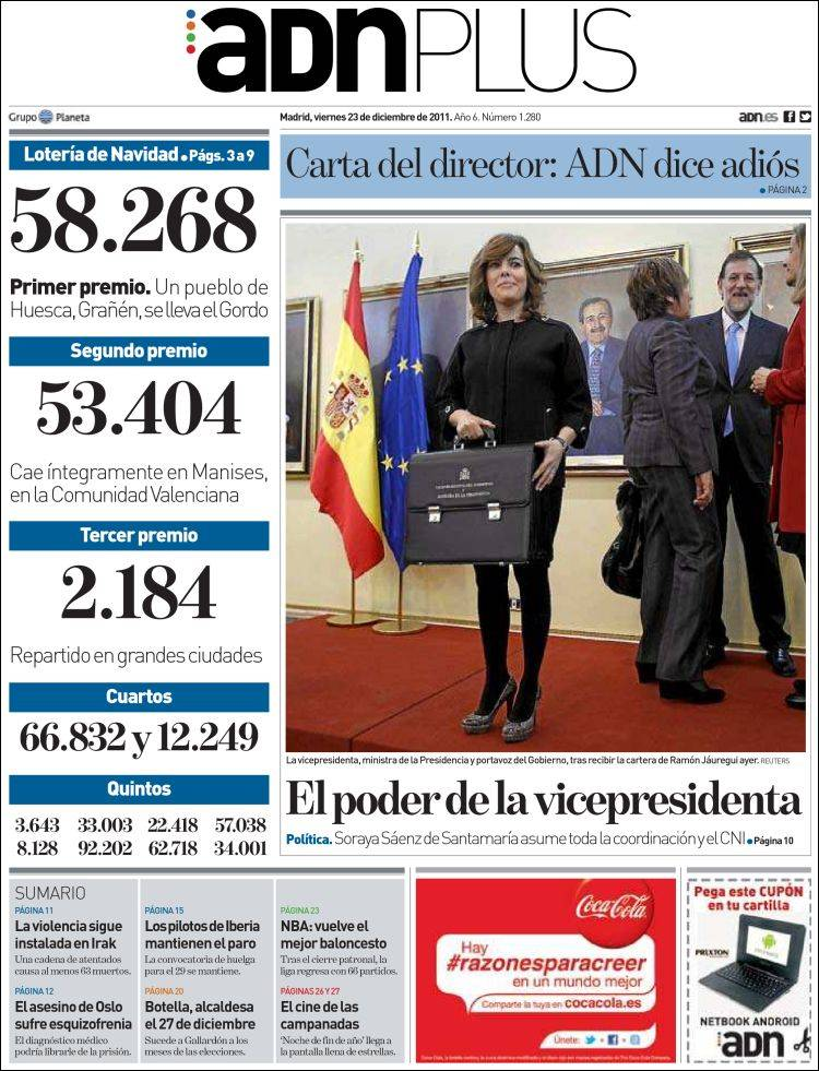 Portada de ADN - Madrid (España)